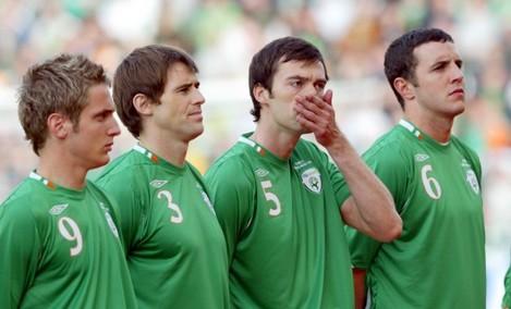 Kevin Doyle, Kevin Kilbane, Gary Breen and John O'Shea