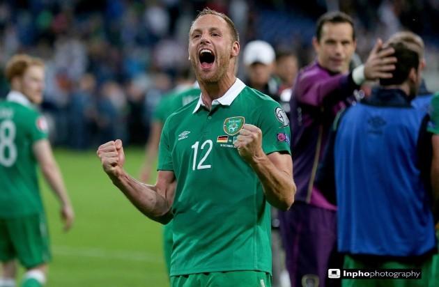 David Meyler celebrates after the game
