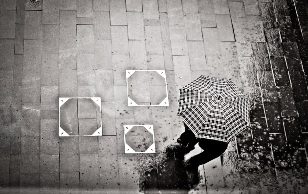 Rain is falling cham-a-cham