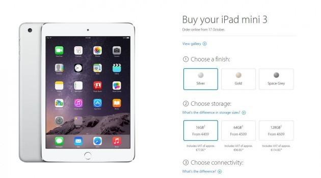 iPad mini 3 cost