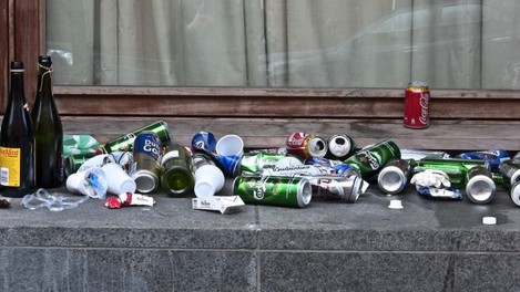 Litter Problem - Henrietta Place, Dublin