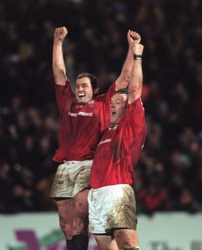 Peter Clohessy and Mick Galwey 8/1/2000