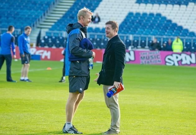 Leo Cullen talkes to Brian O'Driscoll