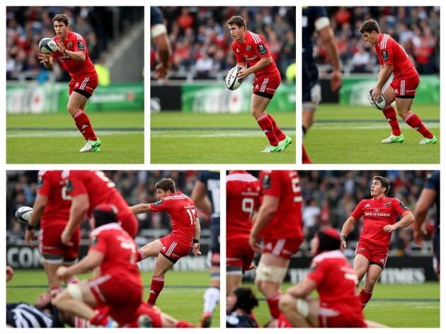 Ian Keatley kicks a drop goal to win the game