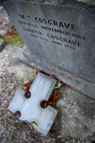 William T Cosgrave grave damaged