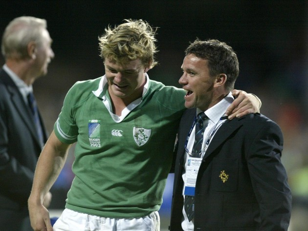 Brian O'Driscoll and Mike Ford