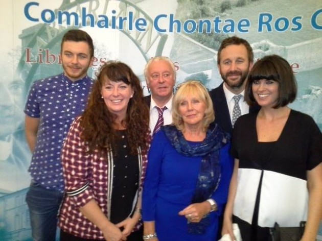 Chris O'Dowd, his wife and family after he was ...