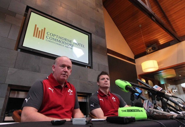 Ireland Head Coach Declan Kidney and Ireland Captain Brian O'Driscoll during the press conference