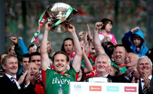 Andy Moran lifts the trophy