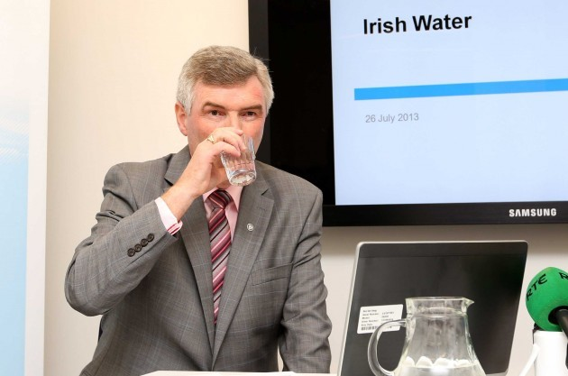 File Photo Water Pressure Alan Kelly says John Tierney should be out facing the public and I'll tell him that.