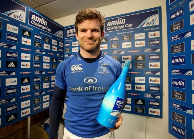 Gordon D'Arcy wins the Amlin Challenge Cup
