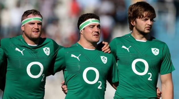Jamie Heaslip, Rob Herring and Iain Henderson