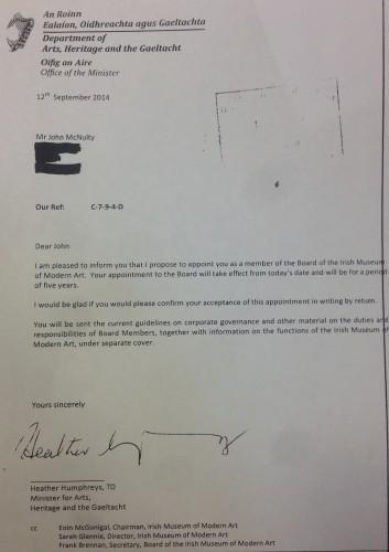 Humphreys letter