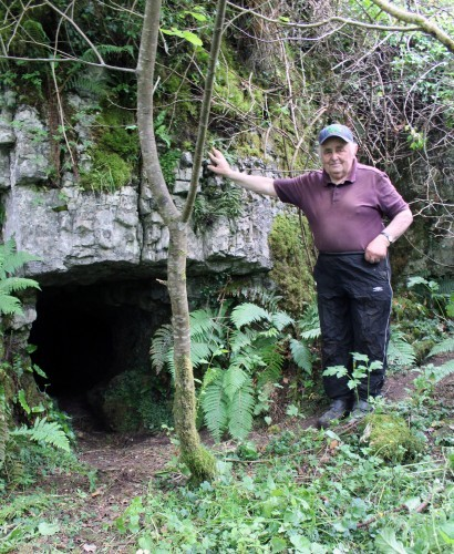Landowner Jackie McGowan at Tully Cave, Sligo. Used as an IRA hideout in the 1920s. Photo credit Marion Dowd