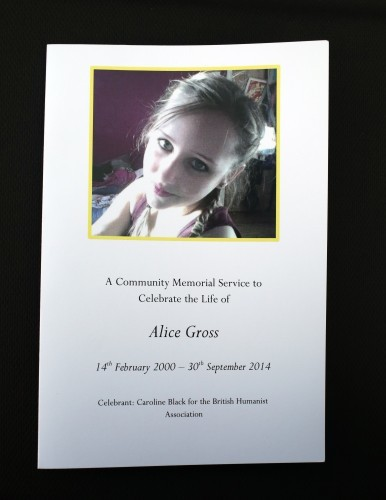 Alice Gross public memorial service