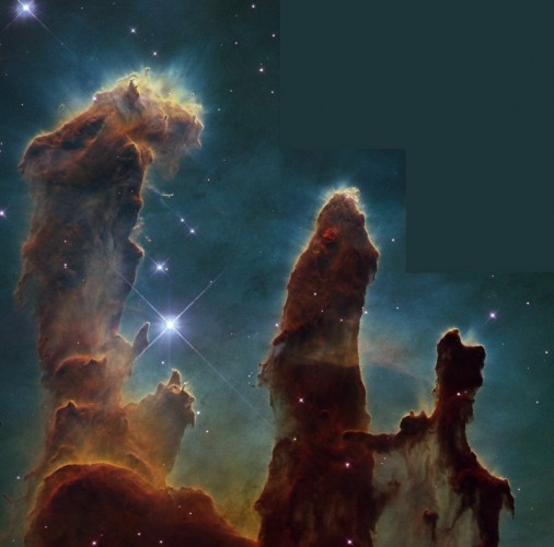 this-hubble-image-of-the-eagle-nebula-is-a-classic-but-do-you-know-where-to-look-check-out-the-top-of-the-tallest-pillar-and-youll-see-little-fingers-sticking-out-of-the-column-these-finger-looking-protrusions-are
