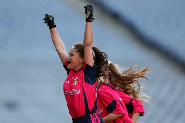 Jade Donnelly celebrates after the game