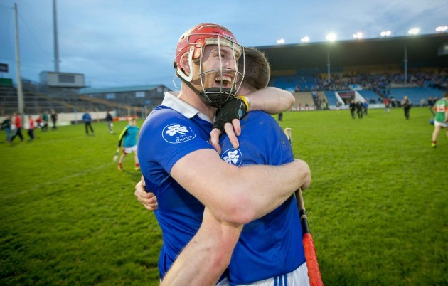 Denis Maher and Michael Cahill celebrate winning