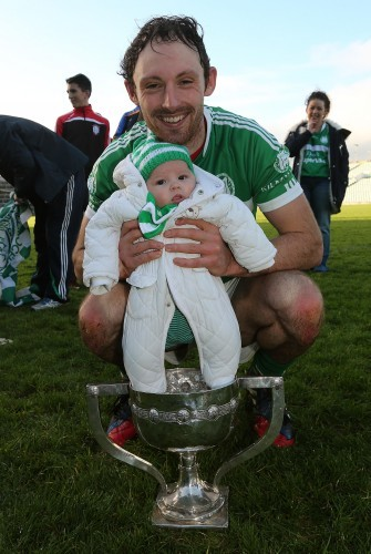Paudie and Fiadh O'Brien celebrate after the game
