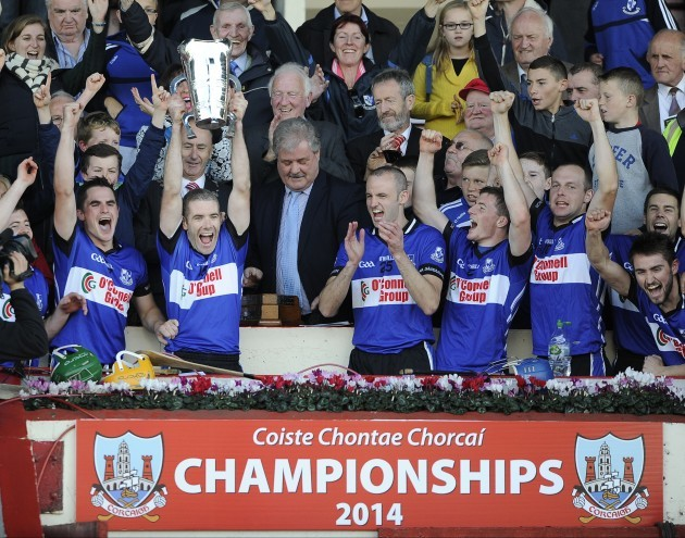 Tadgh Og Murphy lifts the cup