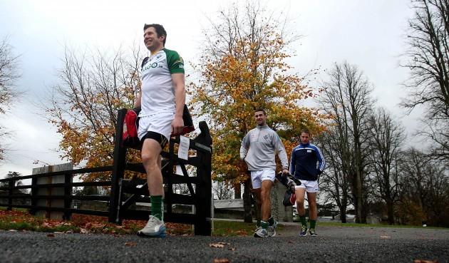 Sean Cavanagh, James McCarthy and Colm O'Neill