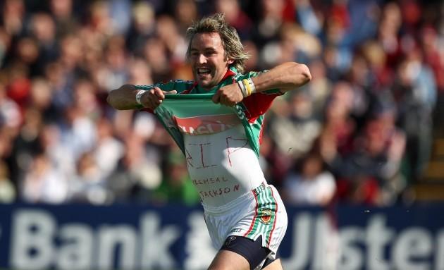 Conor Mortimer celebrates a goal