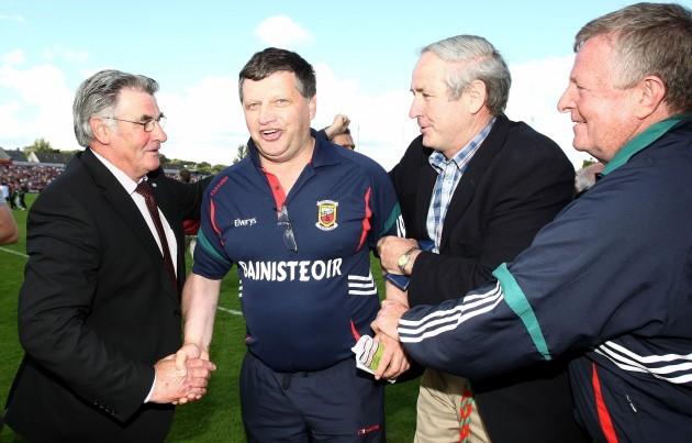 John O'Mahony celebrstes after the game