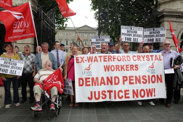 Waterford Crystal Pensions Protests