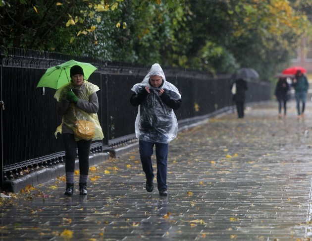 Dublin Weather Scenes. Pictured people