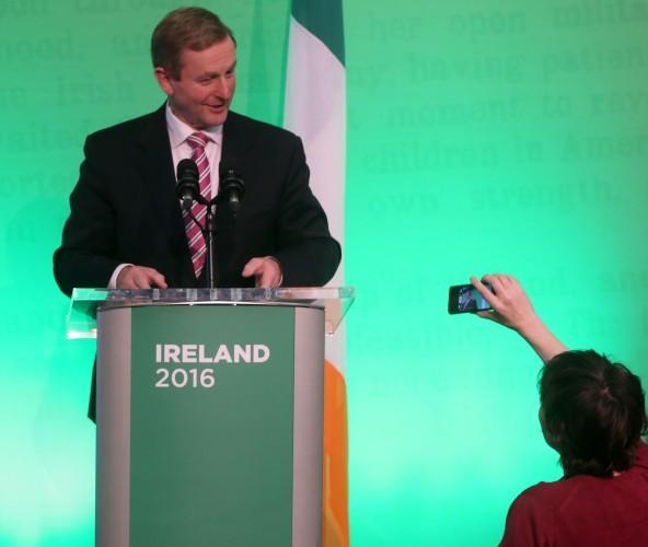 Pictured an taoiseach Enda Kenny TD la