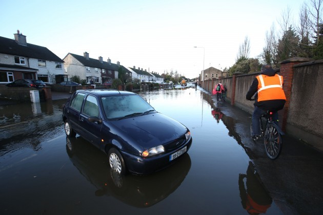 14/11/2014. Dublin Floods. Pictured flood water fr