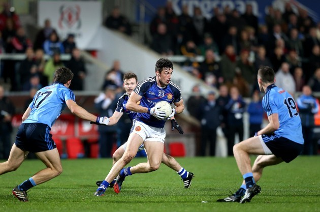 Niall McKeever in action with David Byrne