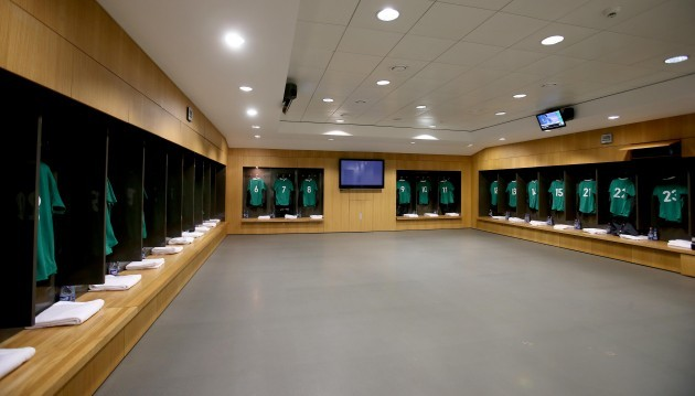 General view of the Ireland changing room