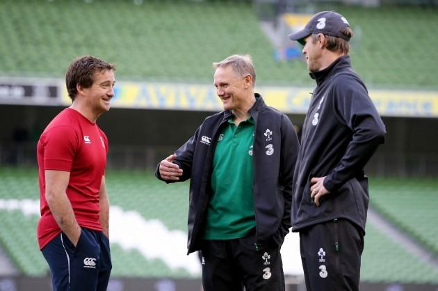 JP Doyle with head coach Joe Schmidt and Simon Easterby