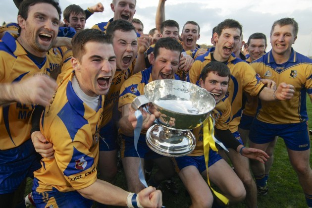 Portumna players celebrate with the Tom Callanan cup