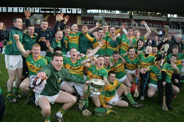 Gort players celebrate winning the Galway County final