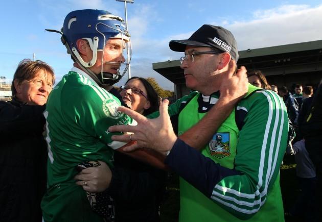Gavin O'Mahony celebrates with Ger O'Loughlin