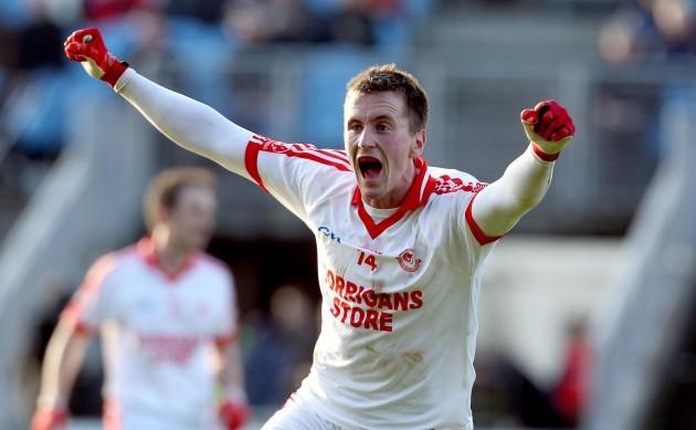 Cillian O'Connor celebrates at the final whistle