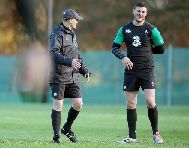 Joe Schmidt and Robbie Henshaw 18/11/2014