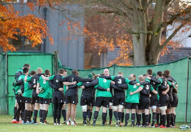 Paul O'Connell speaking to the players today 18/11/2014