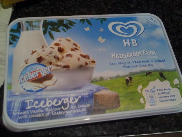 Iceberger ice-cream