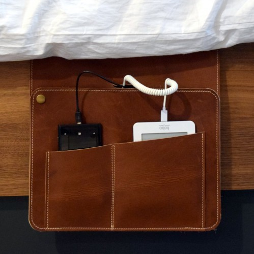 Z-Charge's bedside leather pouch