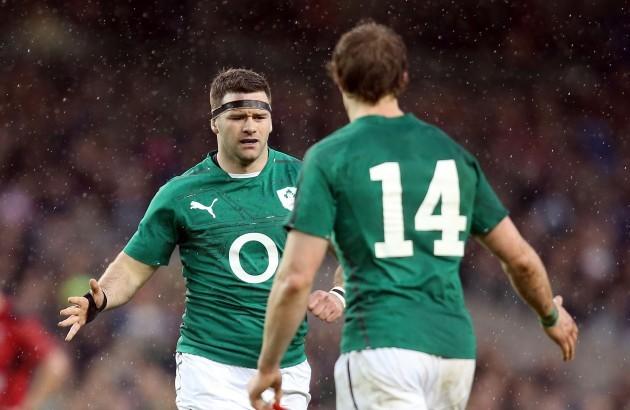 Fergus McFadden with Andrew Trimble