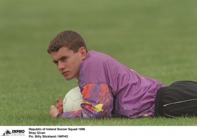 Shay Given Republic of Ireland Soccer Squad 1996