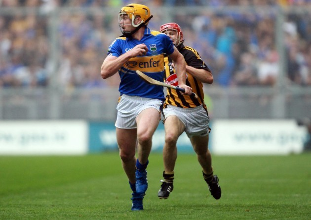 Padraic Maher get's away from Tommy Walsh