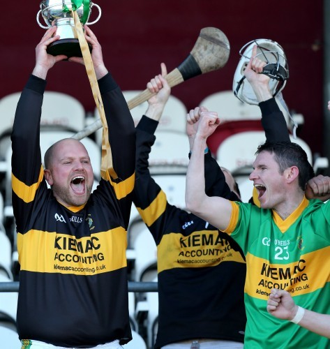 Stephen Colgan lifts the cup