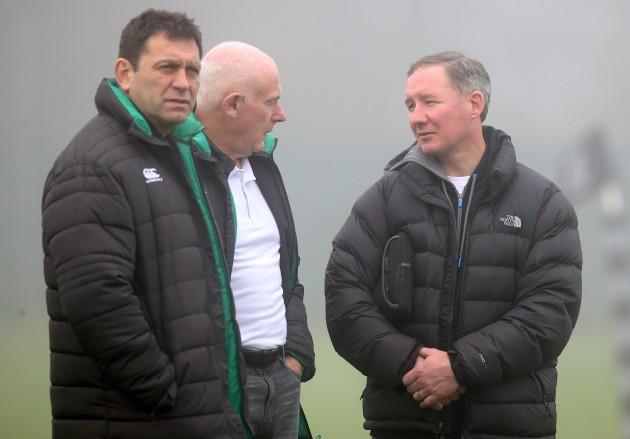 David Nucifora, Mick Kearney and Jim Gavin at training