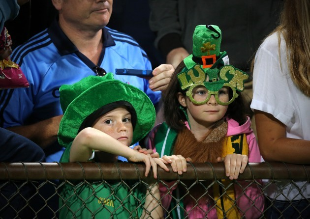 Young Ireland supporters at the game