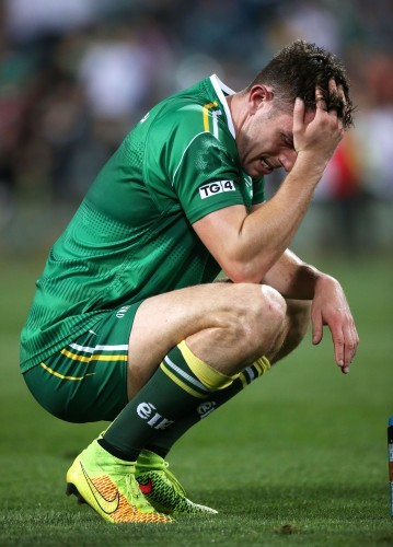 A dejected Colm Begley