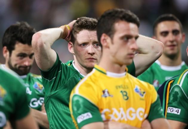 A dejected Conor McManus